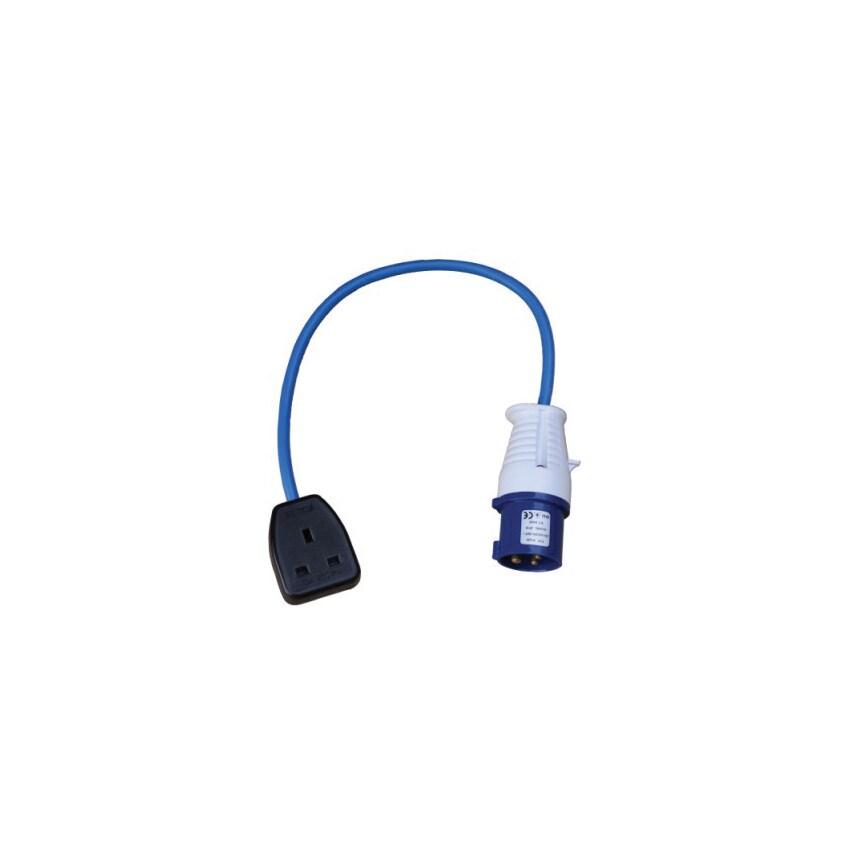 0.5M 16A Plug TO 13A Socket 240V Fly Lead