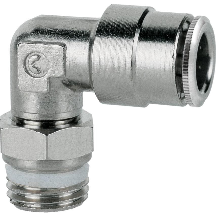 Camozzi S6520 6-1/4 Male Stud Swivel Elbow U.K. ID ZT1066104X