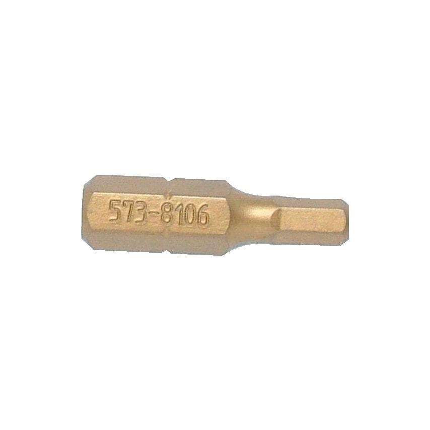 """Kennedy 1/4"""" Hexx4.0Mmx25Mm Titanium Screwdriver Bit UK Specification"""