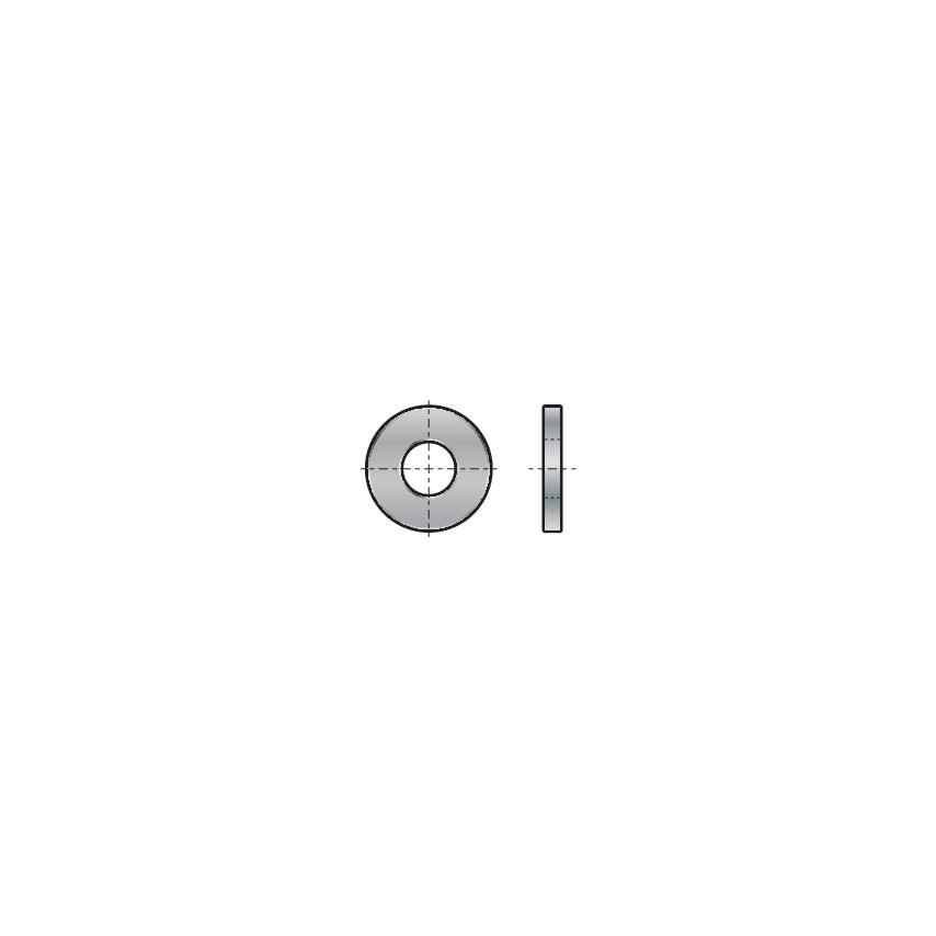 Qualfast M6 Form-A Washer Single Chamfer Steel 140Hv Din 125-1B Pack Of 250 U.K. ID ZT1112812X