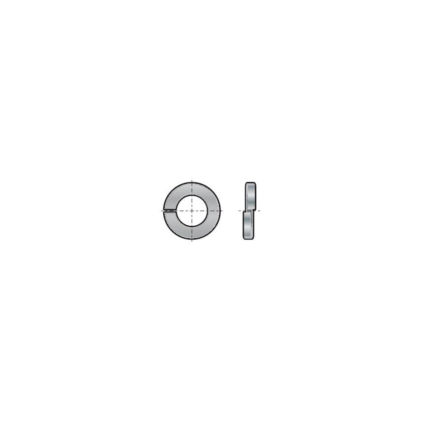 Qualfast M48 Rect' Single Coil Spring Washer Din 127B Pack Of 10 U.K. ID ZT1115251X