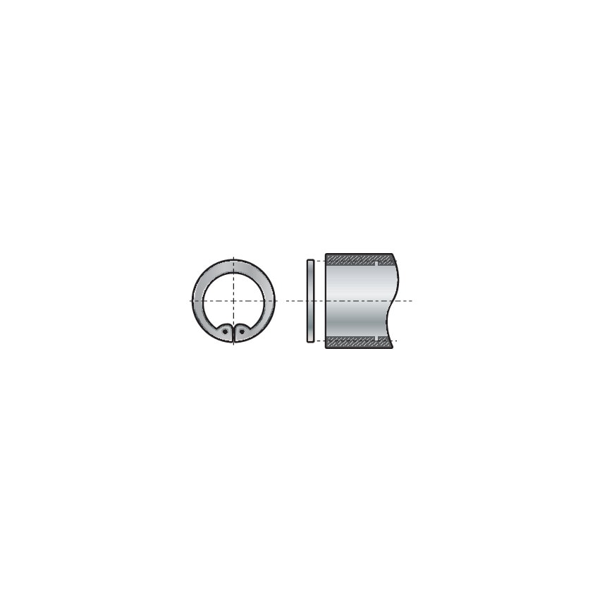 Qualfast 18Mm Din 472 Internal Circlips (Pack 25) UK Specification