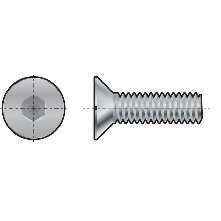 Qualfast M20X100 Skt C/Sunk Head Screw (Gr-10.9) Pack Of 10 UK Specification