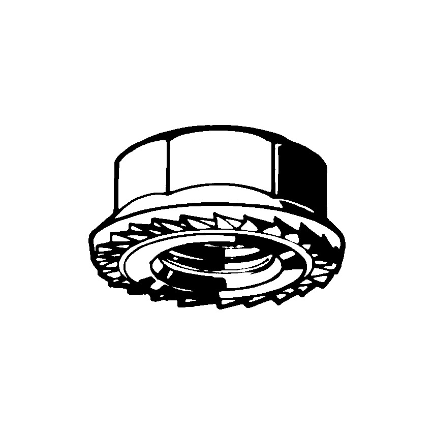 Qualfast M8 Self-Lock Nut Zn Flake Flake (8/10) Pack Of 200 U.K. ID ZT1097598X