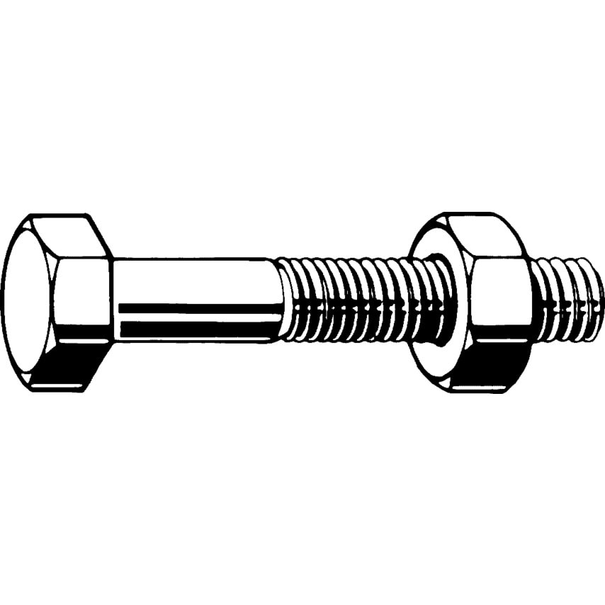Qualfast M6X55 Hex Head Set Screw A4 (Gr-80) - Pack Of 100