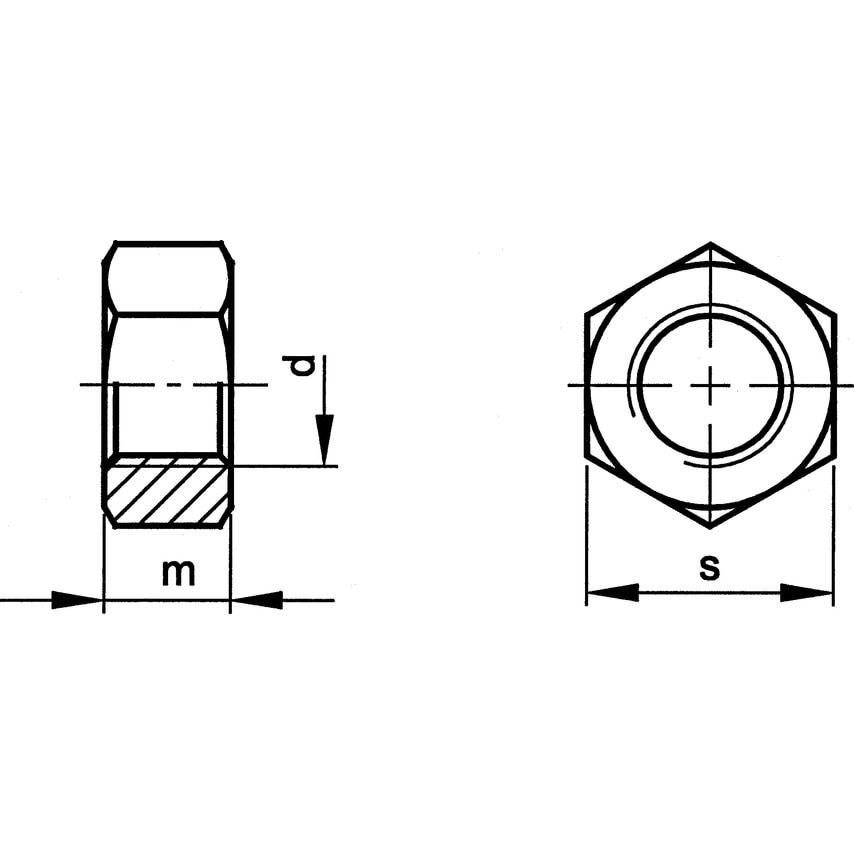 Qualfast M27 Hex Nut H.D.Galv (8) Pack Of 10 UK Specification