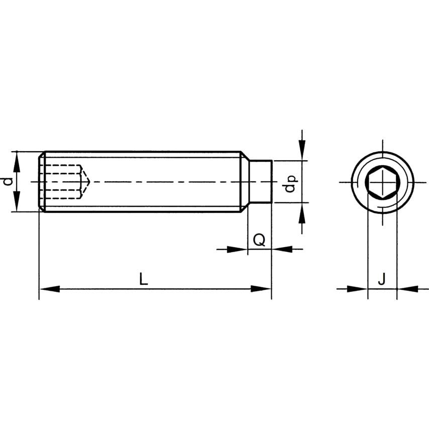 Qualfast M4X8 Skt Set Screw Dog Point (Gr-45H) (14.9) Pack Of 200 U.K. ID ZT1085189X