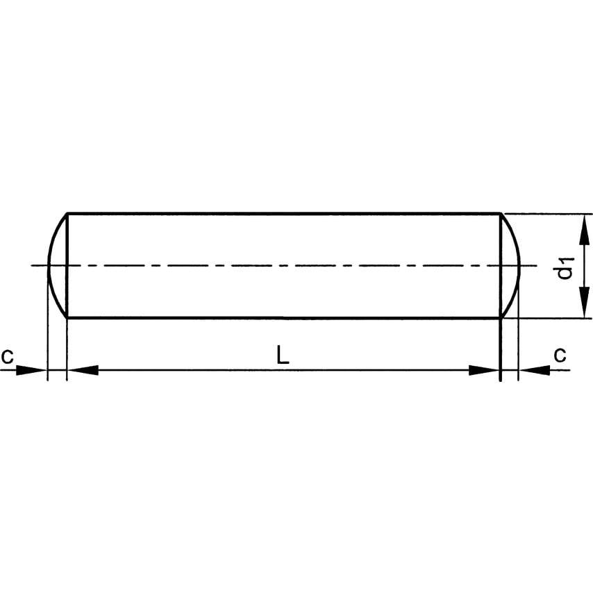 Qualfast 16X60Mm Dowel Pin A1/A2 Pack Of 10 U.K. ID ZT1117226X