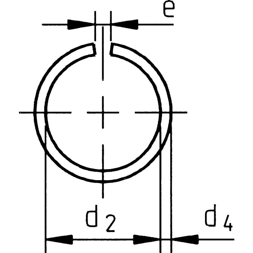 Qualfast 50Mm Shaft Snap Ring Spring Steel Din7993 (Bx-50) UK Specification