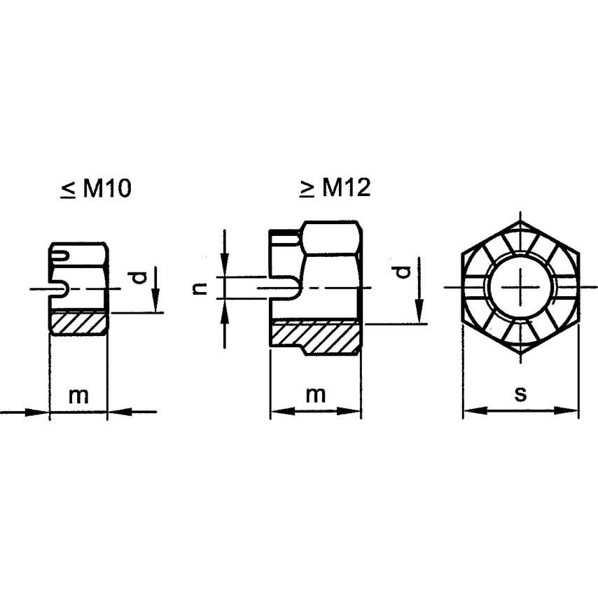 Qualfast M8 Hex Slotted/Castle Nut (5) Pack Of 100 U.K. ID ZT1097637X