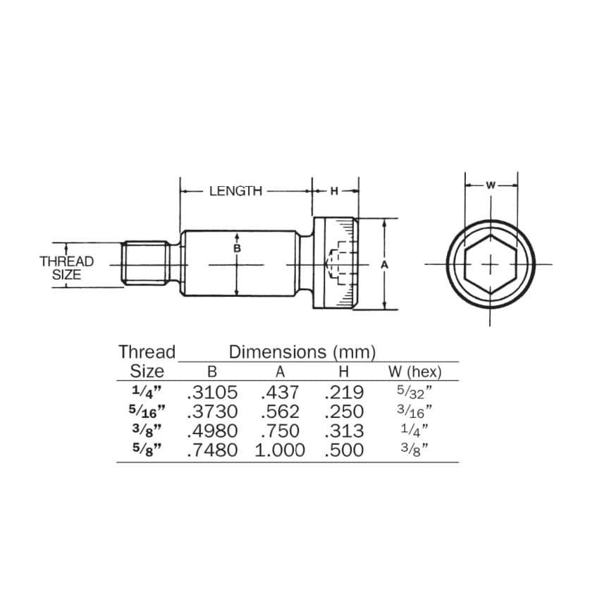 Qualfast 5/8Uncx3/4X2.1/2 Skt Shoulder Screw (Gr-12.9) Pack Of 10 U.K. ID ZT1084255X