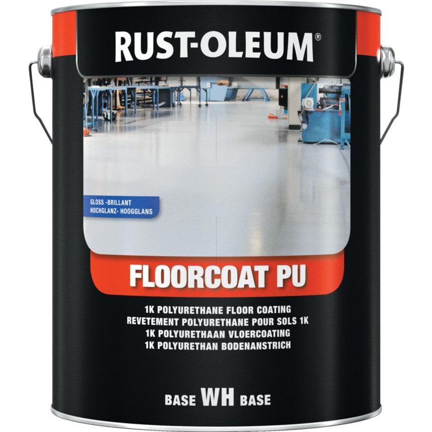 Rust-Oleum 7292 White Gloss Pu Floorcoat 5Ltr Ral9010 U.K. ID ZT1036551X