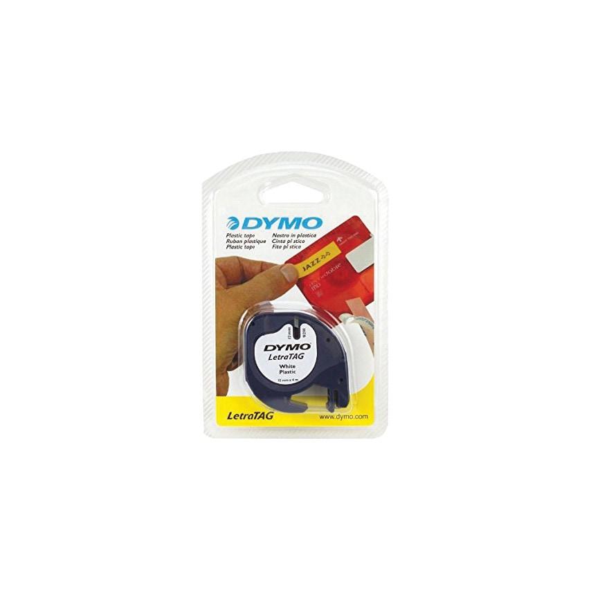 Dymo Letratag Tape 12Mm B Lck On Whte Plastic 91201 U.K. ID ZT1055347X