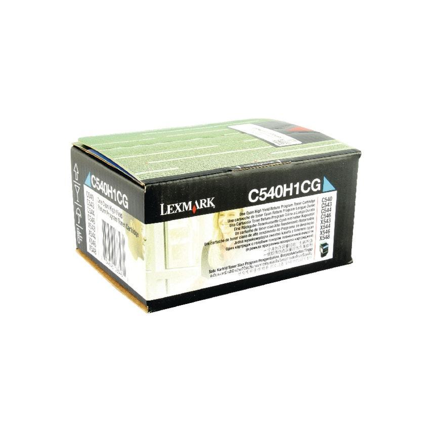 Lexmark C540H1Cg Toner Cartridge Ret/Proghy Cyn UK Specification