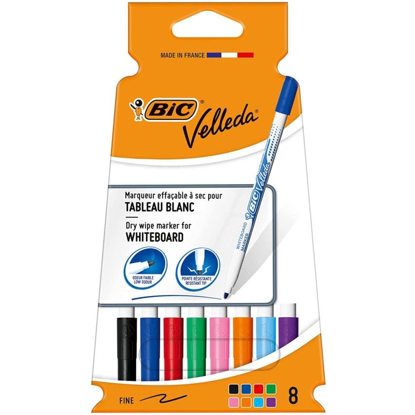 Bic 1199005728 Velleda 1721 Whiteboard Marker Fn/Tip Asst (Pk-8) U.K. ID ZT1049756X