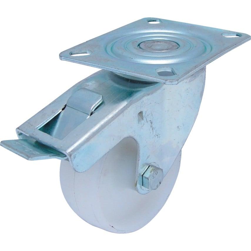 Atlas Workholders 200Mm T/P Swivel Castor(Zinc)N/W & Brake UK Specification