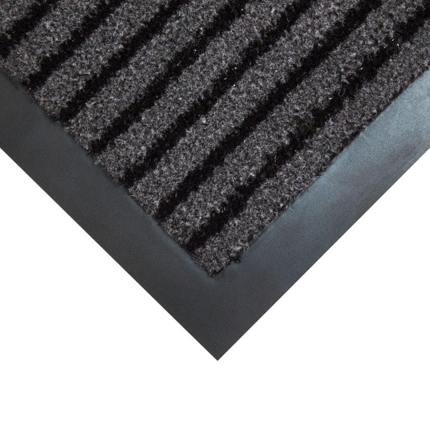 Coba Black & Charcoal Duo Doormat 0.9M X 1.5M U.K. ID ZT1184088X