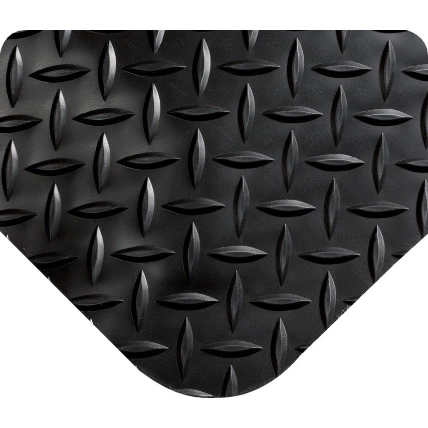 Wearwell 495.916X3Cutbk Diamond-Plate Select Black Mat 3' X 10' UK Specification
