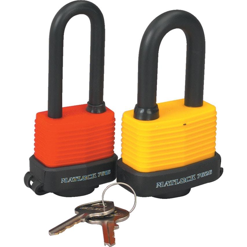 Matlock Laminated Yellow Steel Key Padlock 54Mm U.K. ID ZT1185241X