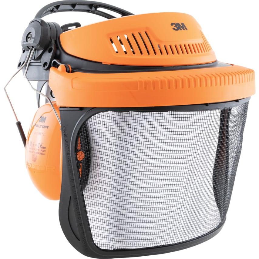 3M G500 Forestry Headgear Visor & Optime I Ear Muff