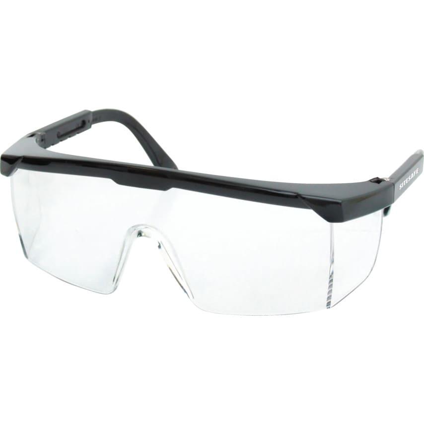 Sitesafe Saturn Black Specs Clear Lens type 9844A U.K. ID ZT1173790X
