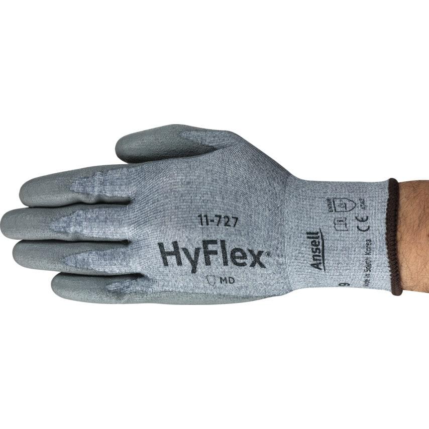 Ansell 11-727 Hyflex Intercept Grey Cut Resistant Gloves Size 7 UK Specification