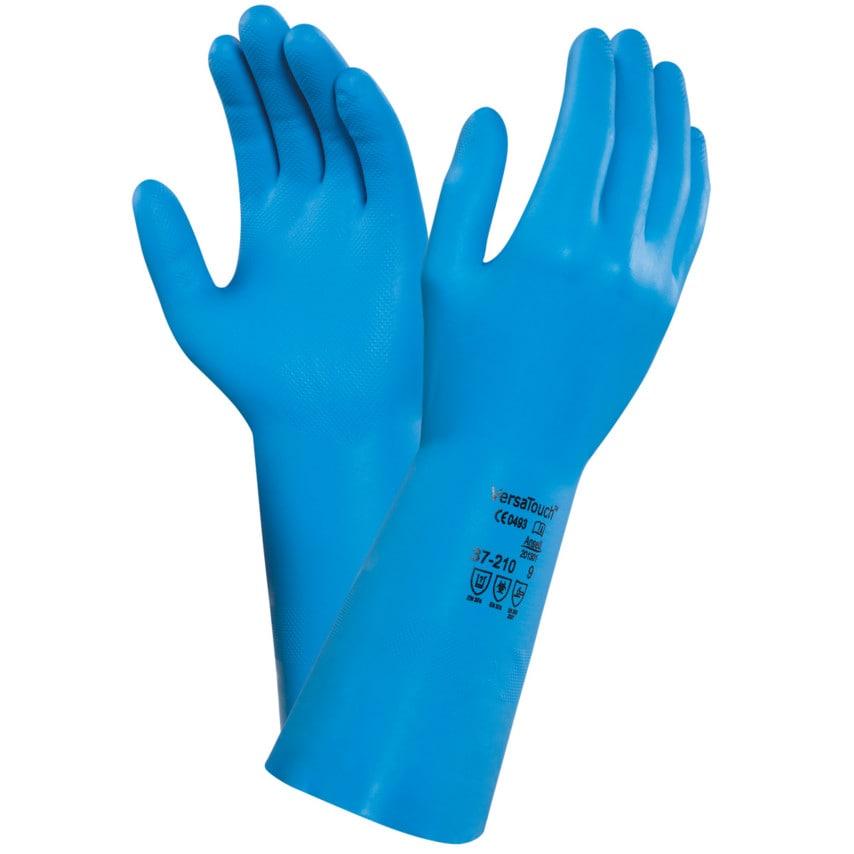 Ansell 37-210 Versatouch Blue Nitrile Gloves Size 9 U.K. ID ZT1176438X