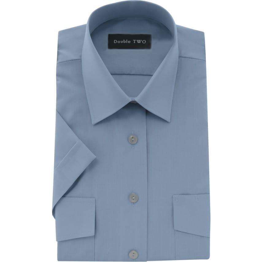 Double Two Women'S 14.5In Short Sleeve Blue Pilot Shirt UK Specification