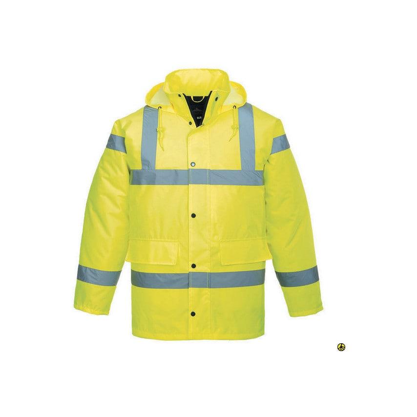 Portwest S460 Hi-Vis Xxxxl Yellow Traffic Jacket En471 U.K. ID ZT1173375X