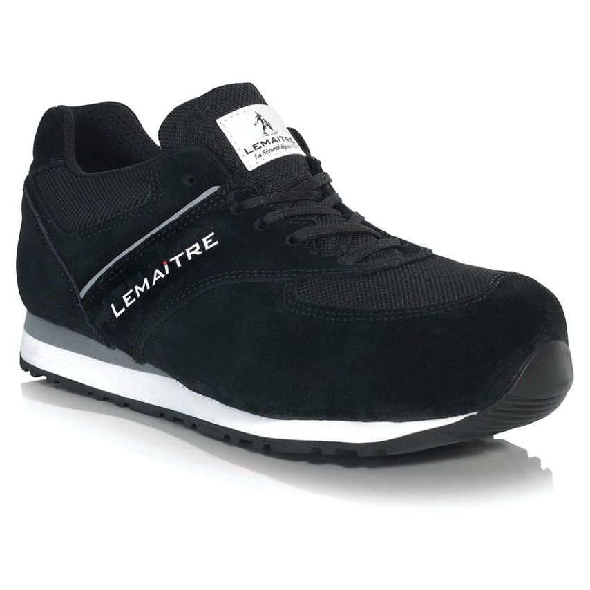 Black Safety Trainers, Size 7