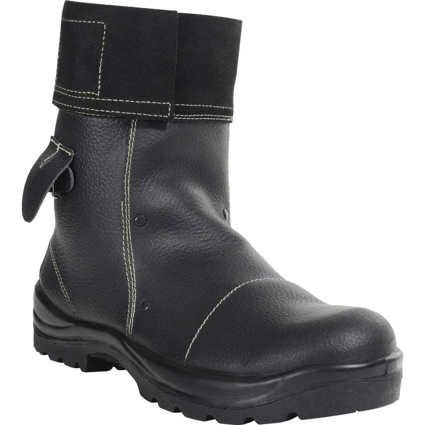 Perf Pb25 Mid Leg Black Foundry Safety Boots Size 6 U.K. ID ZT1182213X