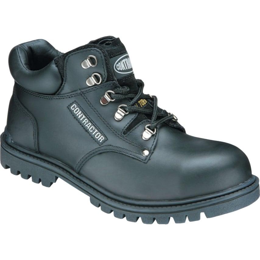801 Contract Heavy Duty Black Chukka Safety Boots - Size 6