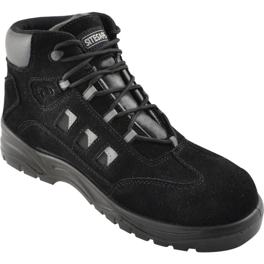 Sitesafe Black Hiker Safety Boots Size 9 U.K. ID ZT1180812X