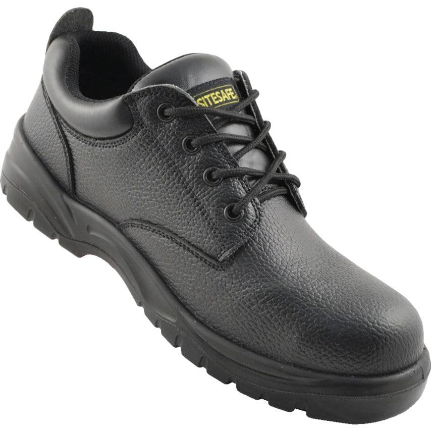 Sitesafe Shoe Black 4 Eyelet S1P S Rc Size 4 U.K. ID ZT1180375X
