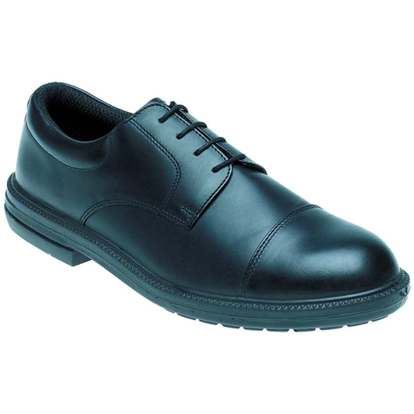 Toesavers Black Leather Safety Shoe D/D Sms Size 11-910 U.K. ID ZT1180132X